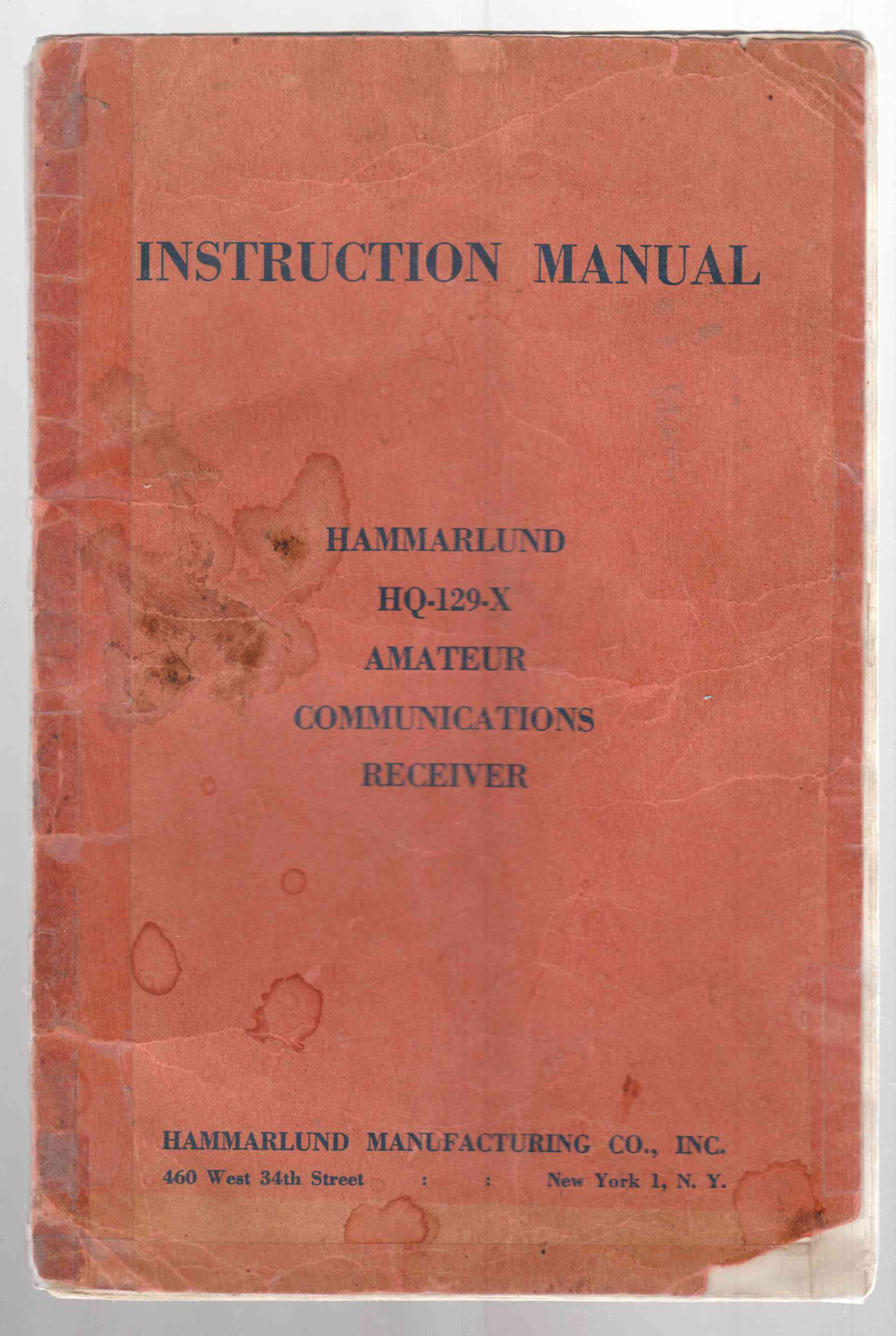 Image for HQ-129-X Communications Receiver Technical Description Operating Instructions