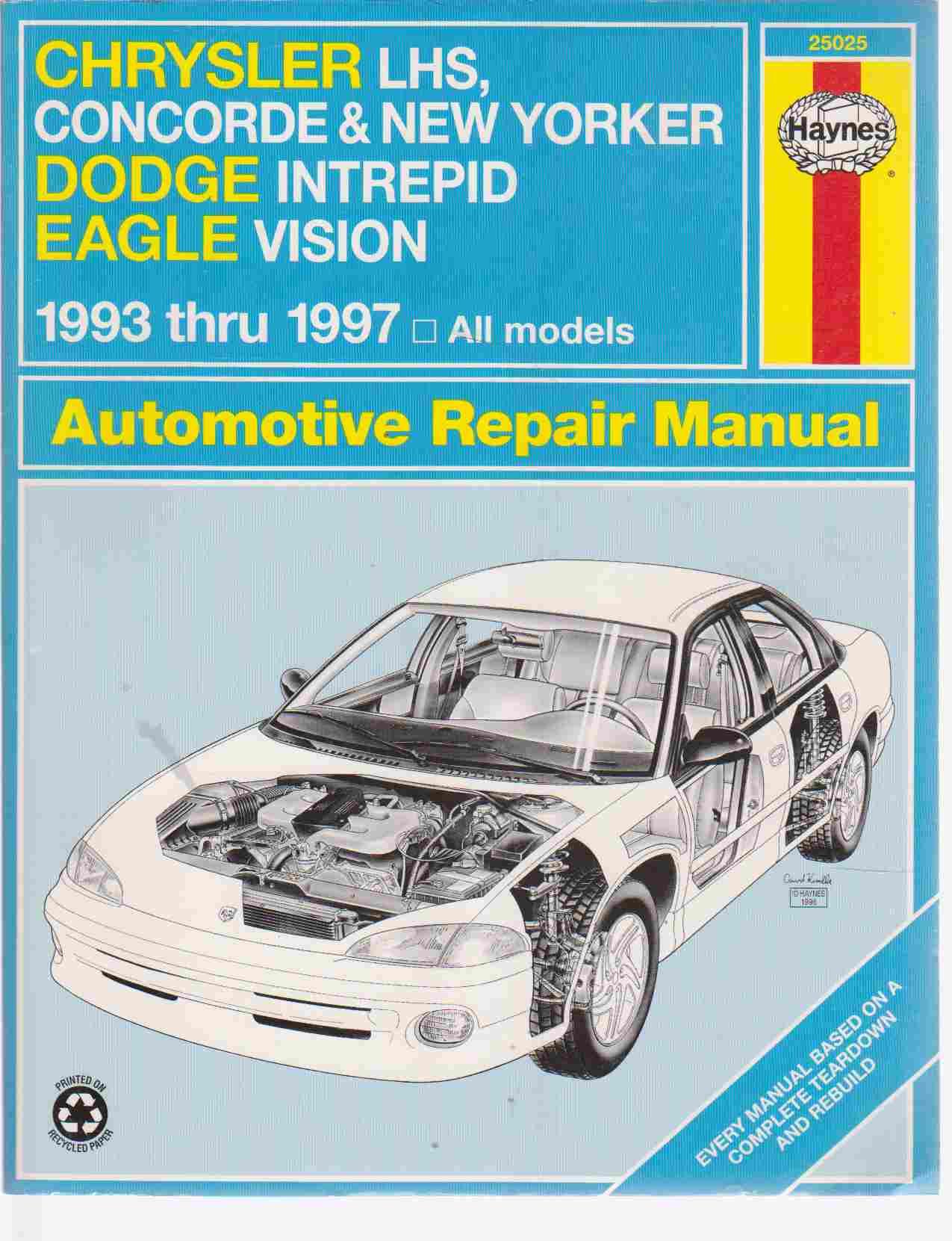 Image for Chrysler LHS, Concorde, New Yorker Dodge Intrepid & Eagle Vision  1993 thru