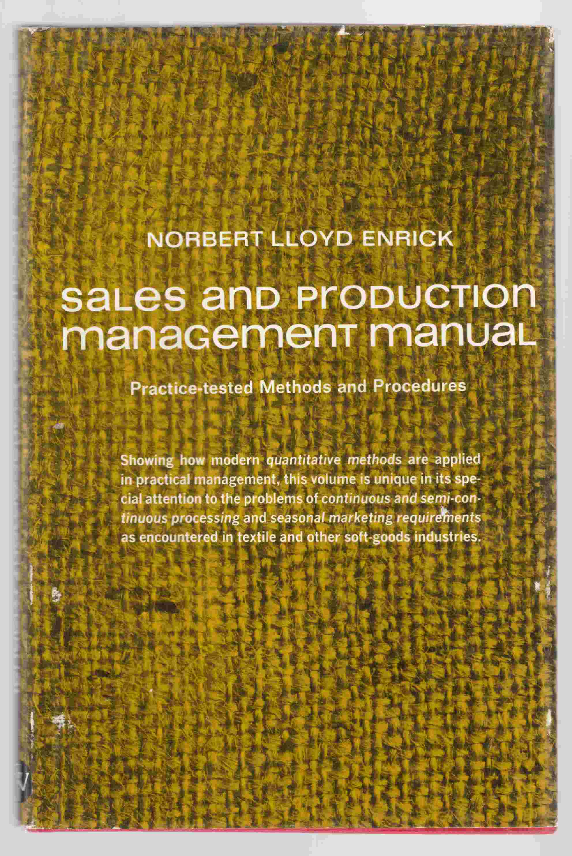 Image for Sales and Production Management Manual
