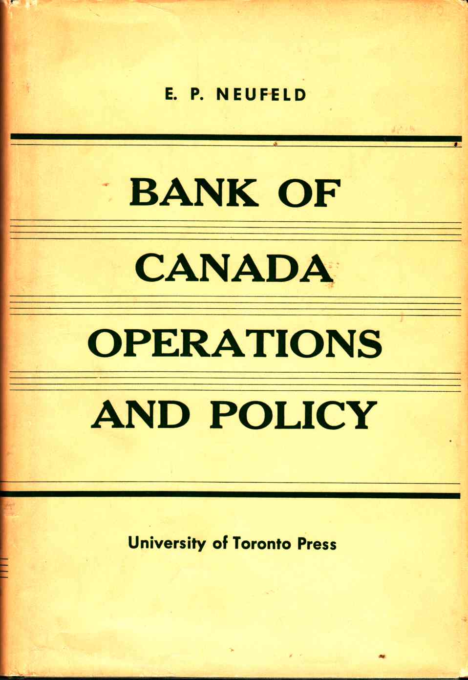 Image for Bank of Canada Operations and Policy